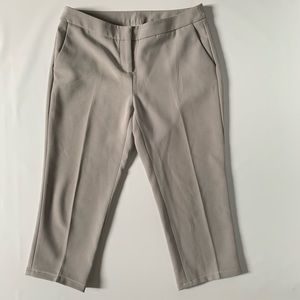 Mercer & Madison gray mid-rise cropped pants